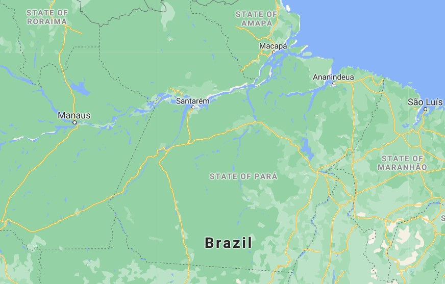 Map, Stata of Pará, Brazil