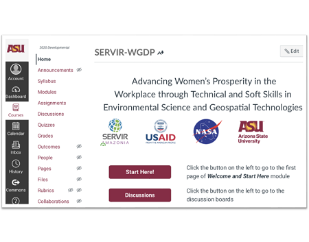 """Take the free online technical and """"Power skills"""" training to advance women's prosperity in the geospatial and environmental workplace"""