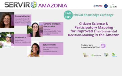 Sign-up for a knowledge exchange on citizen science and participatory mapping, September 29 & 30